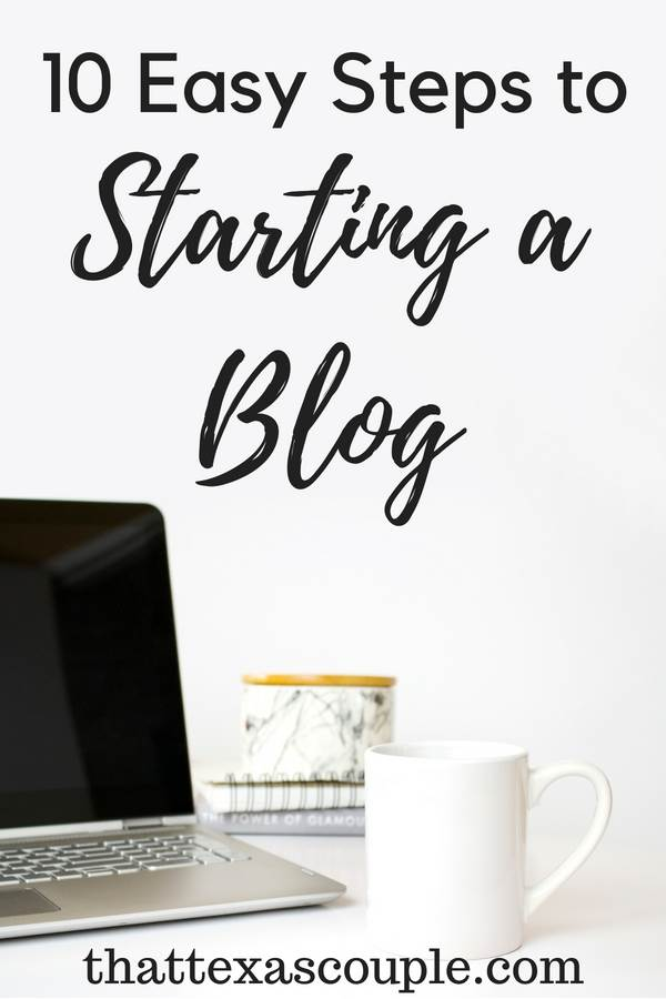 Are you considering starting a blog? Then you have to read this post. Starting a blog can be intimidating, that's why I've broken down the process in 10 easy to follow steps. #blogging #startingablog #howto startablog #beginningblogger