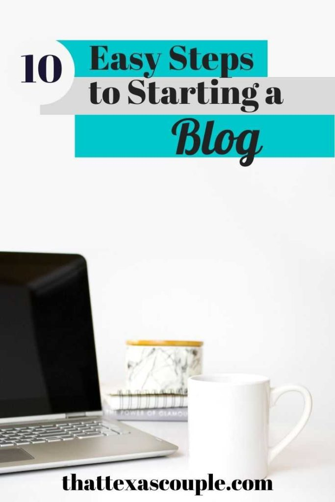 Starting a blog doesn't have to be hard thanks to our 10 easy steps. Let us help you get your blog going today! blogging for beginners| blogging tips| blogging ideas| blogging for beginners step by step| blogging for beginners wordpress