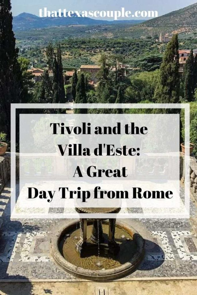 A visit to Tivoli and the Villa d'Este make an easy and fun day trip from Rome. Let us show you how with this post. #rome #daytripfromrome #italy #traveltips #europe