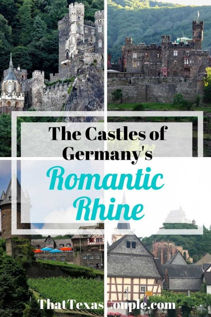 Are you interested in castles on the Rhine? The UNESCO World Heritage area of the Romantic Rhine valley is dotted with charming towns and romantic castles. Let us show you them in this post! #gernabt #castles #travel #europe #couplestravel #traveltips #rhineriver #rhinevalley