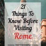 things to know before visiting Rome