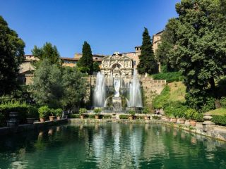 One of the gorgeous fountains in the gardens of Villa d'Este