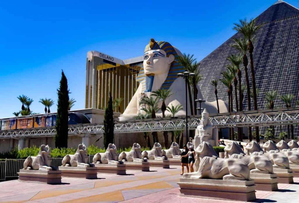 Egyptian sphinx outside of Luxor Hotel in Las Vegas