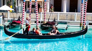 Gondolas at the Venetian Hotel in Las Vegas is guaranteed to be a romantic thing to do in Las Vegas!
