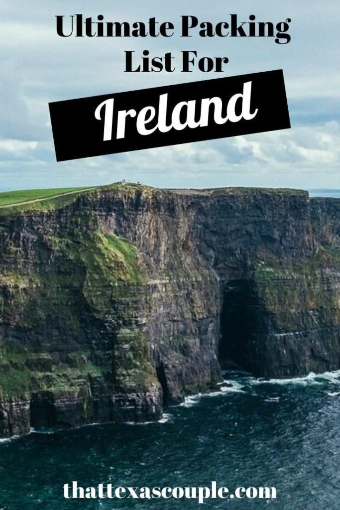 Headed to Ireland and wondering what to pack for Ireland? We have you covered with all of the essential in this post! Ireland what to pack for Ireland Ireland packing guide Ireland travel Europe travel