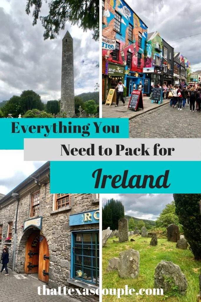 Planning a trip to Ireland? This post will help you know exactly what you need to pack for your trip! Ireland Ireland travel tips what to wear in Ireland what to pack for Ireland Ireland packing guide 