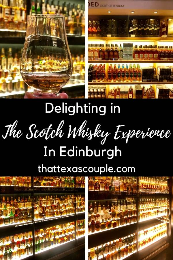 Planning a trip to Edinburgh? Then you have to add The Scotch Whisky Experience to your itinerary. This post guides you through the tours offered as well as let's you see inside our delightful afternoon at The Scotch Whisky Experience. #scotchwhisky #edinburgh #whisky #whiskytour #scotland #visitscotland #scotchwhiskyexperience