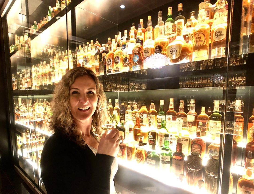 Michelle with her whisky