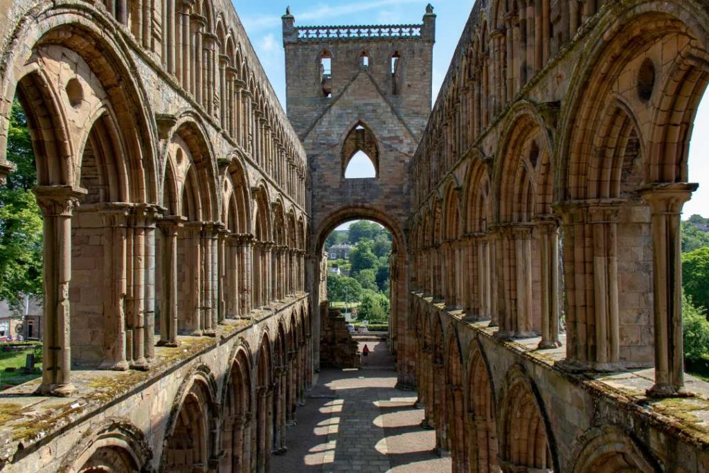 Jedburgh Abbey is one of the abbeys in Scotland to visit