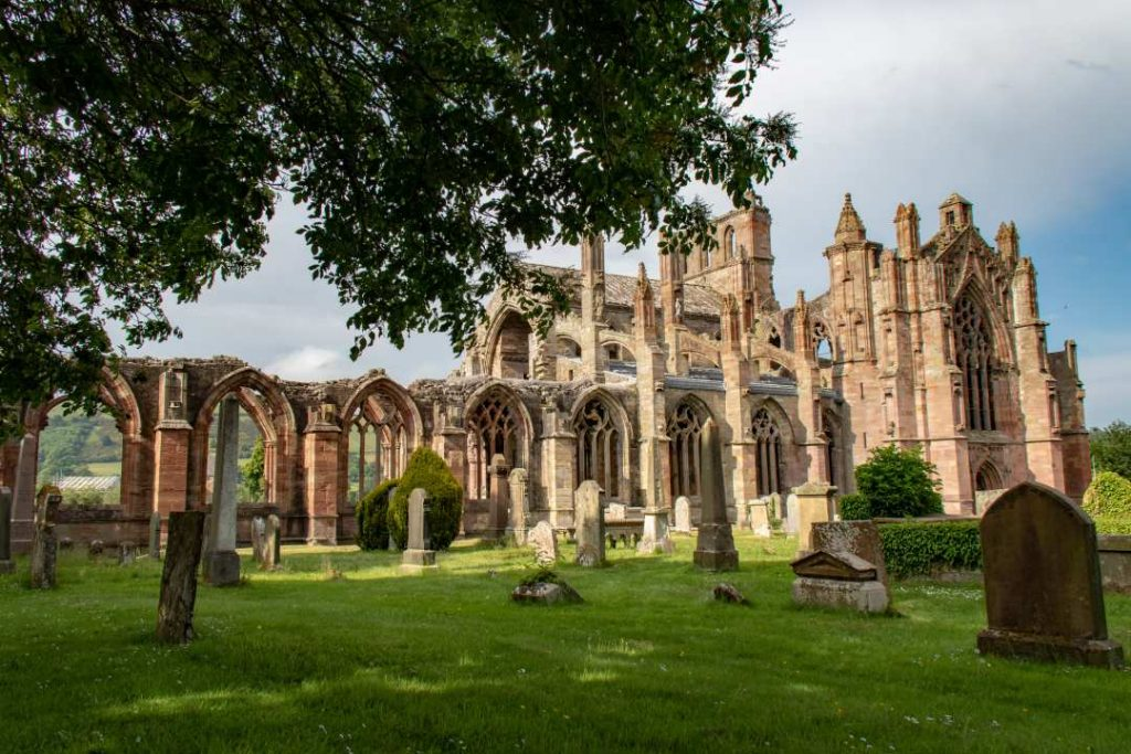 Melrose Abbey is a great addition to your 7 day Scotland itinerary