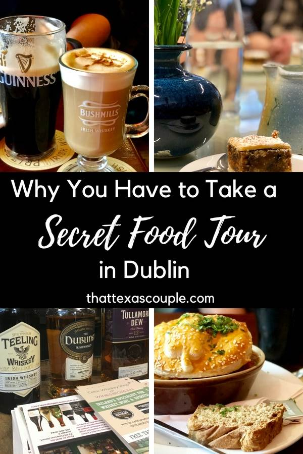 Planning a trip to Dublin? Love food? Then this is the post for you! Check out our experience with Dublin's Secret Food Tour. Taste fabulous Irish food, whiskey, and ice cream! #dublin #foodtour #visitdublin #ireland #foodie