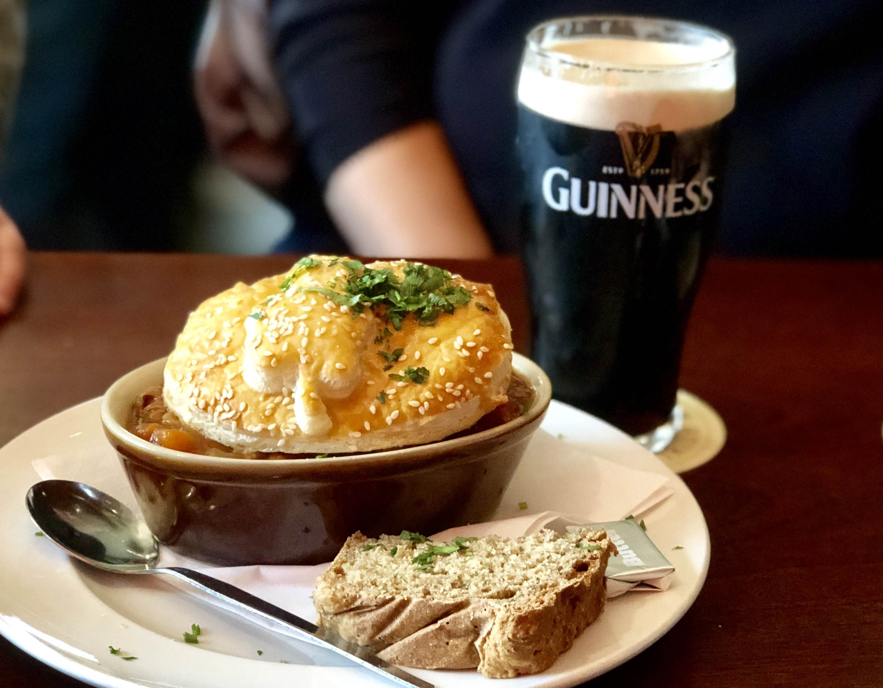 Guinness pie and Guinness