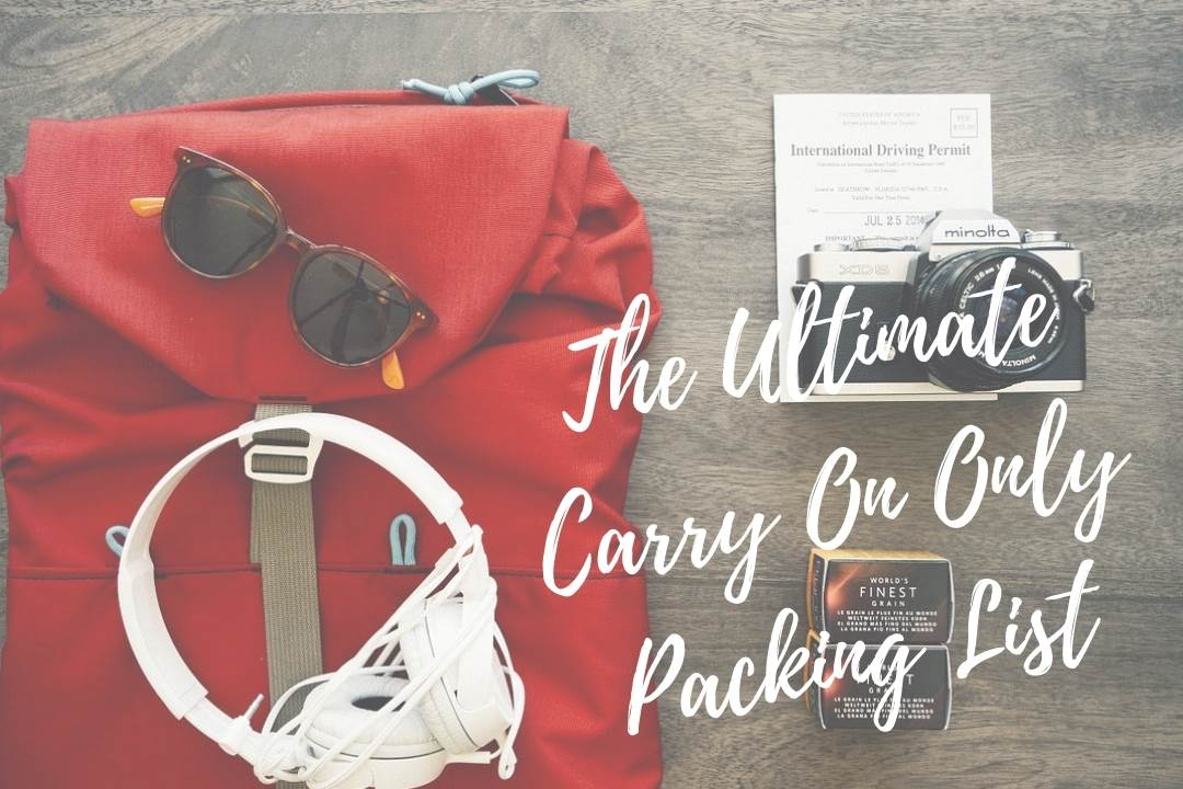 If you're considering traveling with only a backpack, then this ultimate carry on only packing list is just what you need! #carryononly #minimalisttravel #backpack #packinglist