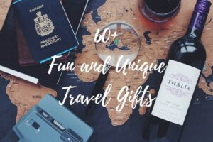 Are you looking for a gift for the travel lover in your life? Then you're in the right place! This post outlines over 60 fun and unique gifts for travelers that fit all budgets! #travelgifts #giftsfortravelers #valentinesgiftsfortravelers #valentinesdaygifts #giftsforhim #valentinesgifts #giftsforher #funtravelgifts #uniquetravelgifts #birthdaygiftsfortravelers #birthdaygifts #giftforsomeongoingabroad