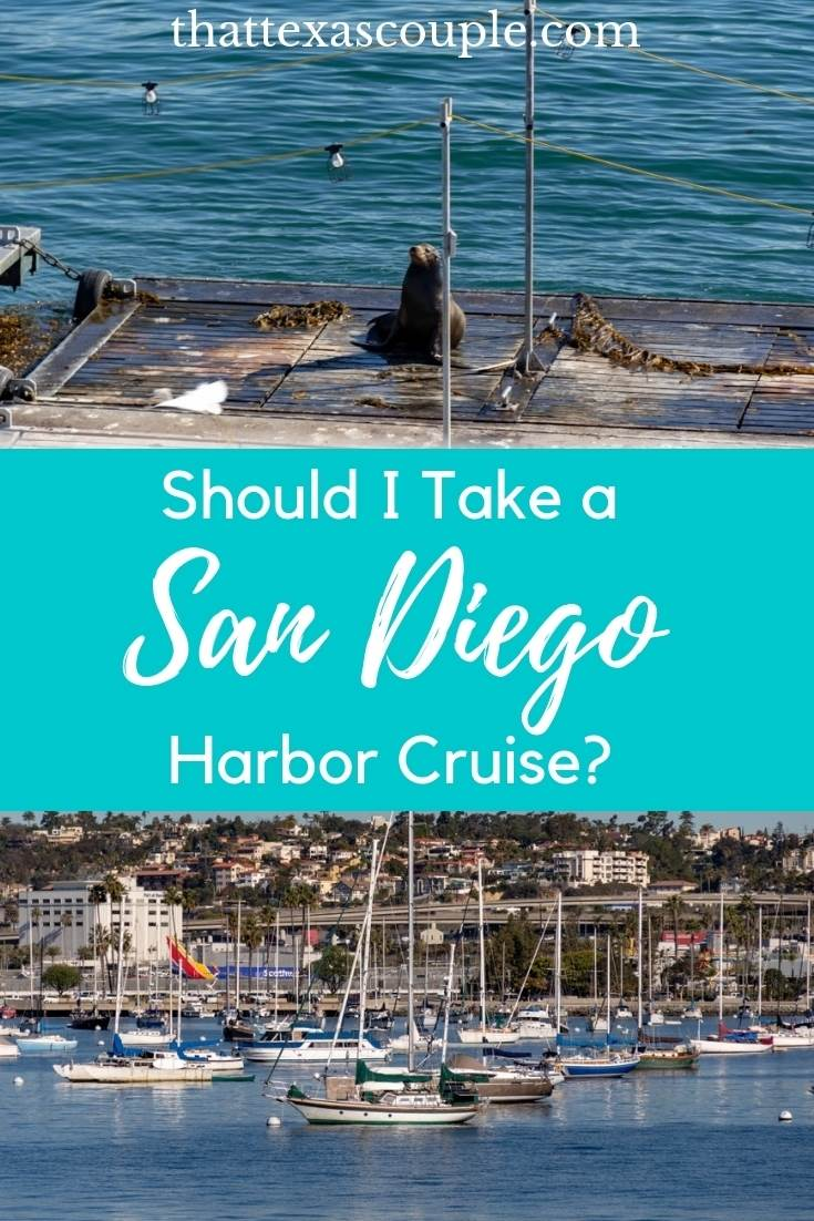 Are you heading to San Diego and considering a harbor cruise?  Check out this post first.  We will outline for you our experience on a San Diego Harbor Cruise and provide you with a couple of tips and tricks so that you get the most our of your experience.  #sandiego  #california #harborcruise #couplestravel