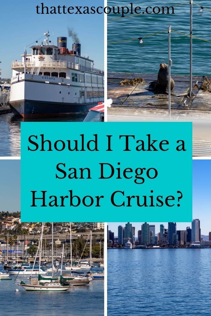 Are you considering a harbor cruise while in San Diego?  Then you need to read this post.  We will outline exactly what to expect on a San Diego Harbor Cruise.  #california #sandiego #harborcruise #couplestravel