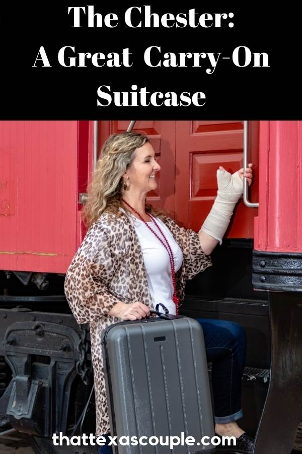 Are you tired of paying airline baggage fees? Then you need a good carry-on suitcase and the Chester carry-on is great. This hard shelled suitcase has great features that you're going to love. Check it out! #chestersuitcase #luggage #traveltips #packingtips