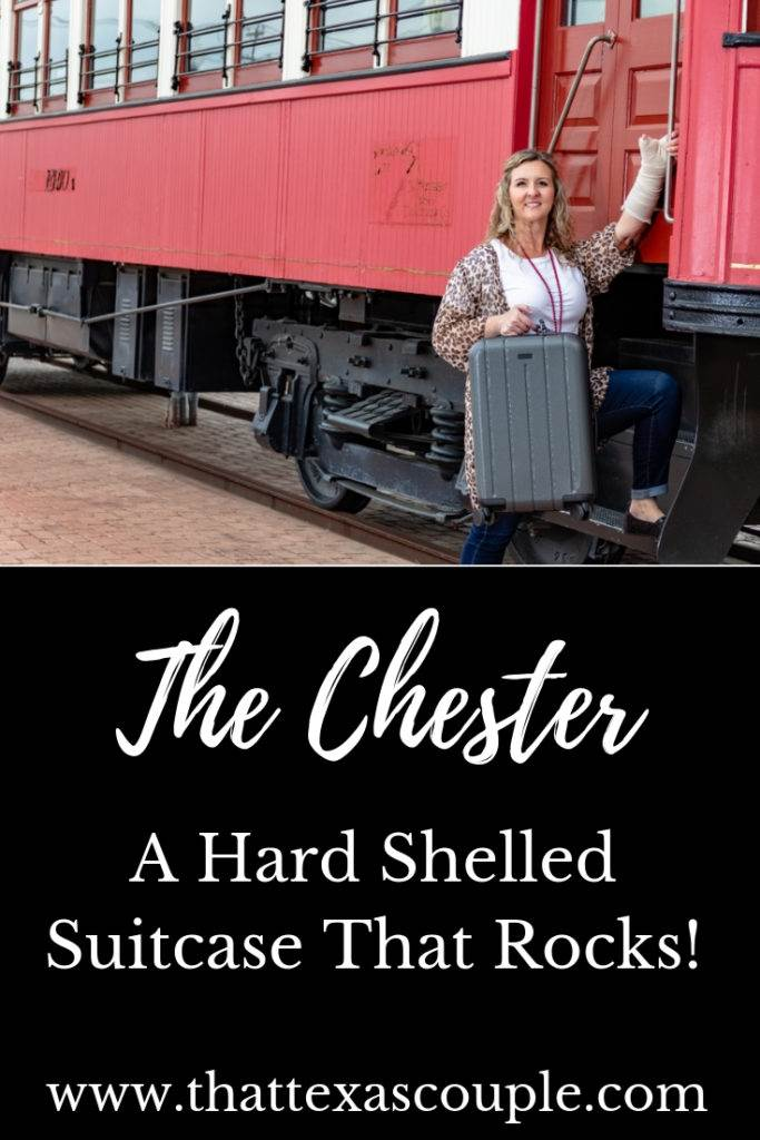 If you're looking for a great carry-on, then this post is for you. Check out the Chester hard shelled suitcase. It has so many features that you will love you won't need to look any further. #luggage #packingtips #travel #suitcase