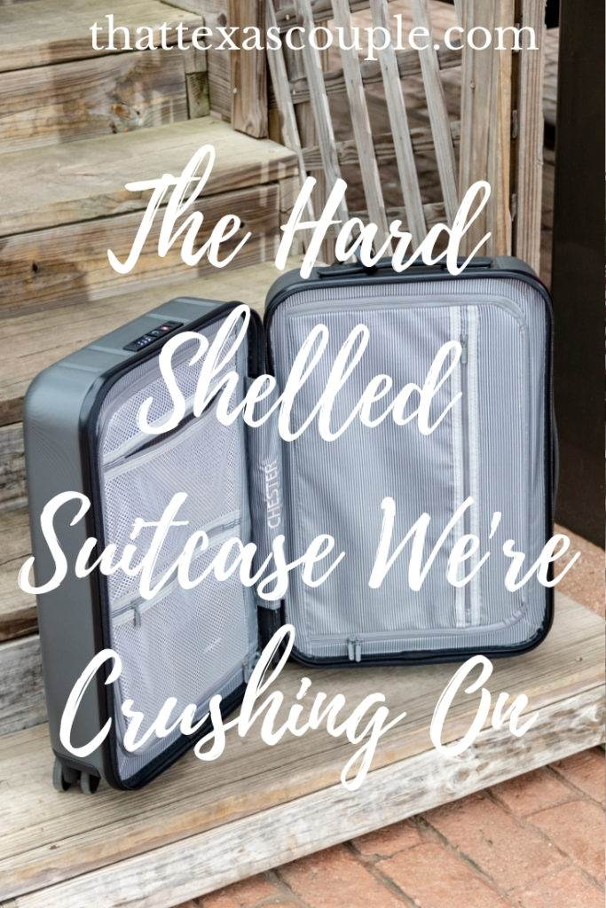 Are you in the market for a great carry-on suitcase? Then check out this post outlining all of the great features of the Chester hard shelled suitcase. #carryon #suitcase #packingtips #luggage
