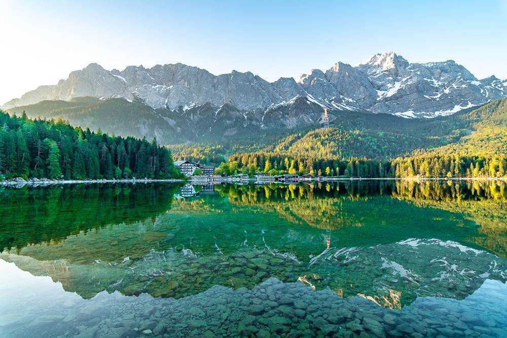 Eibsee Lake is a nice day trip from Munich