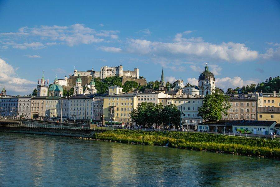 Salzburg, Austria is a great day trip from Munich