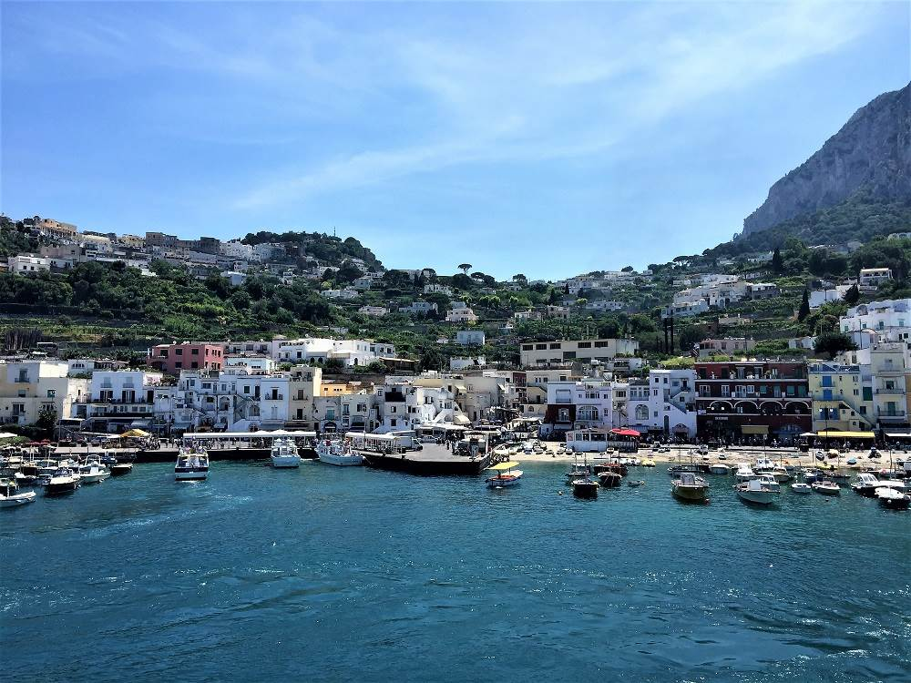 Marina Grande Capri is easily accessible with the Naples to Capri ferry
