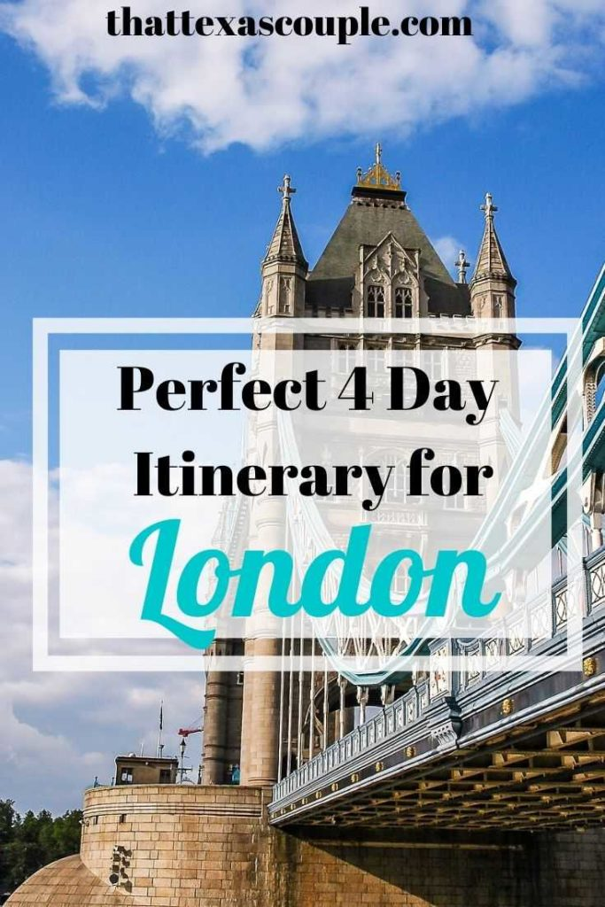 This London Itinerary 4 days is perfect for those wanting to see all of the tourist sights while still exploring some of London's neighborhoods. #london #londonitinerary #travelitinerary #europetravel #travelitinerary