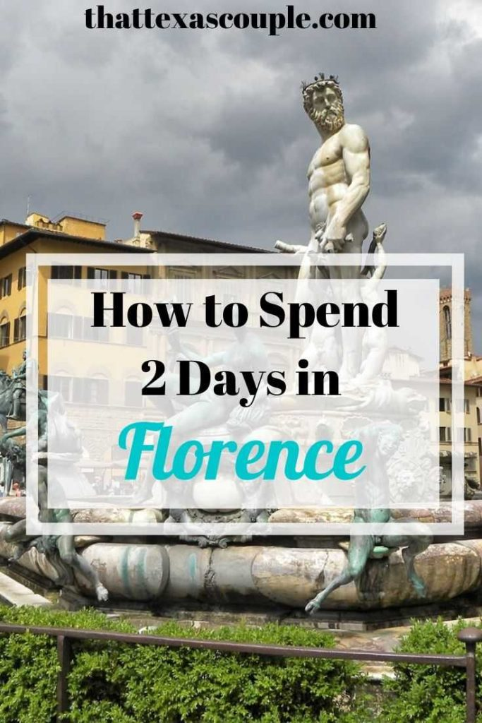 Do you have only 2 days in Florence? Then you need to read this post. We've outlined our favorite things to do with only 2 days in Florence. #italy #florence #travelitinerary #traveltips #europe #europeantravel #couplestravel