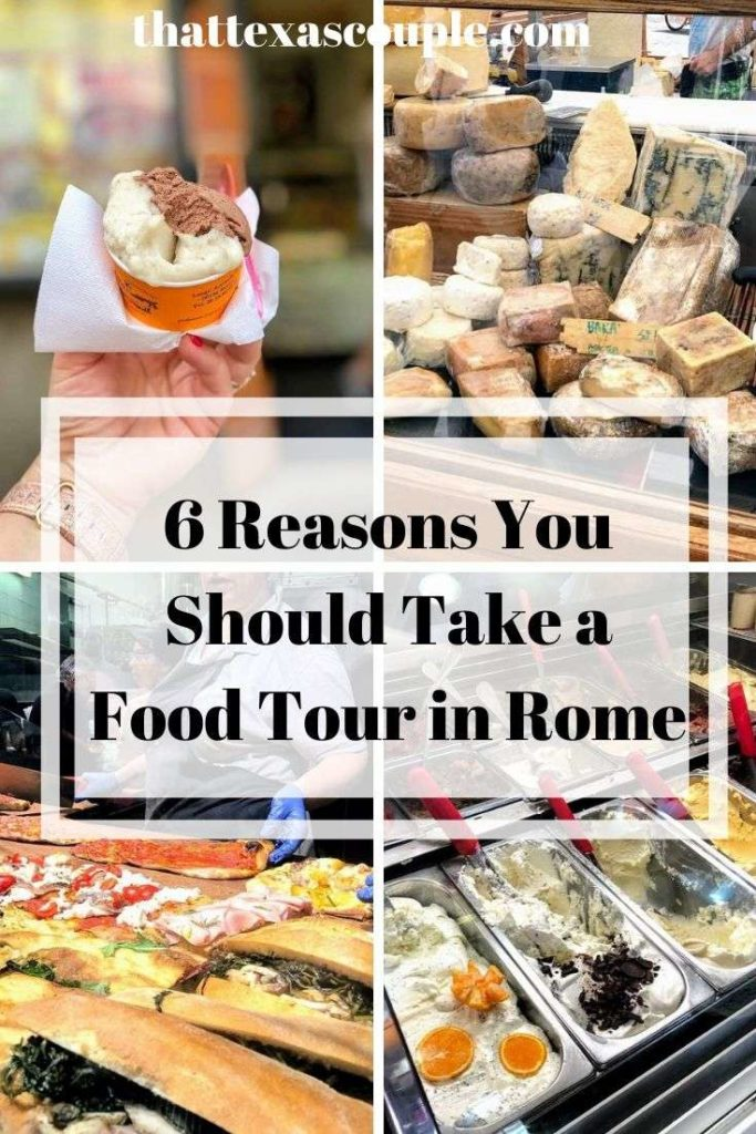 If you're planning a trip to Rome then you should definitely include a Rome food tour. We've outlined our 6 reasons you should take a food tour in Rome! #rome #italy #europe #foodie #traveltips