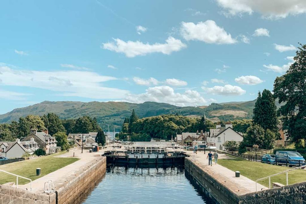 Fort Augustus is one of the cool places to visit in Scotland
