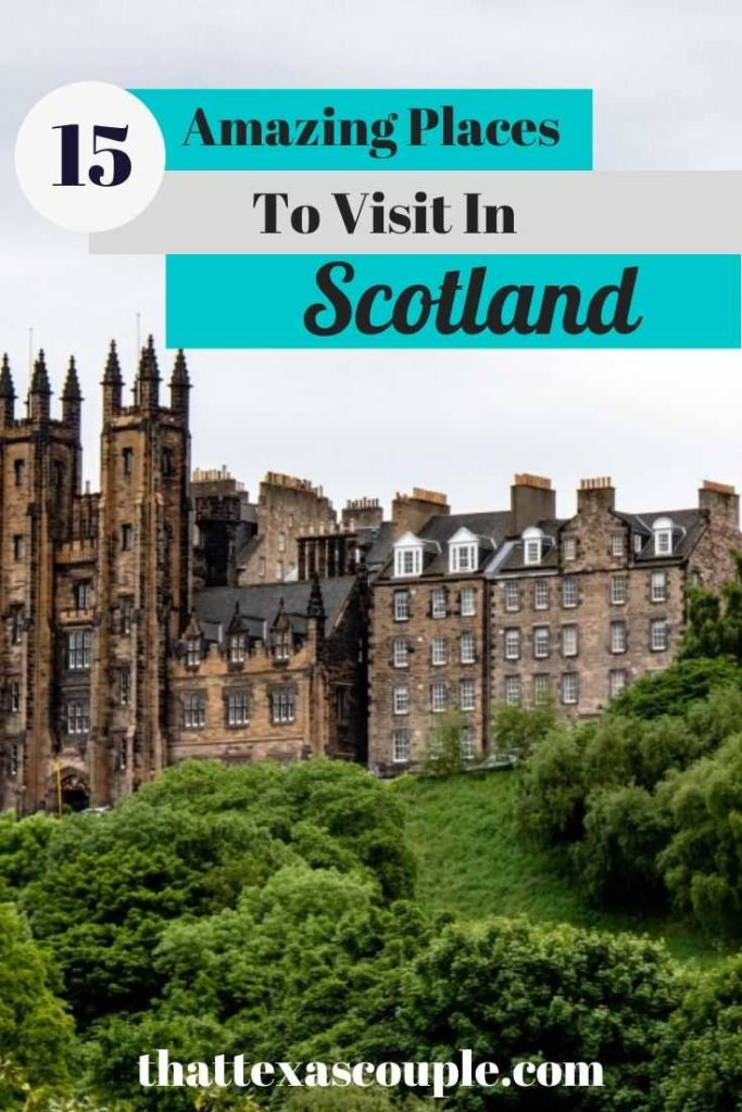 There are so many amazing places to visit in Scotland that it can seem a little overwhelming when planning a trip. Let us help you! We've teamed up with fellow travel bloggers to bring you this post featuring some amazing places in Scotland. Check it out! #scotland #traveltips #travel #europe #couplestravel #thattexascouple