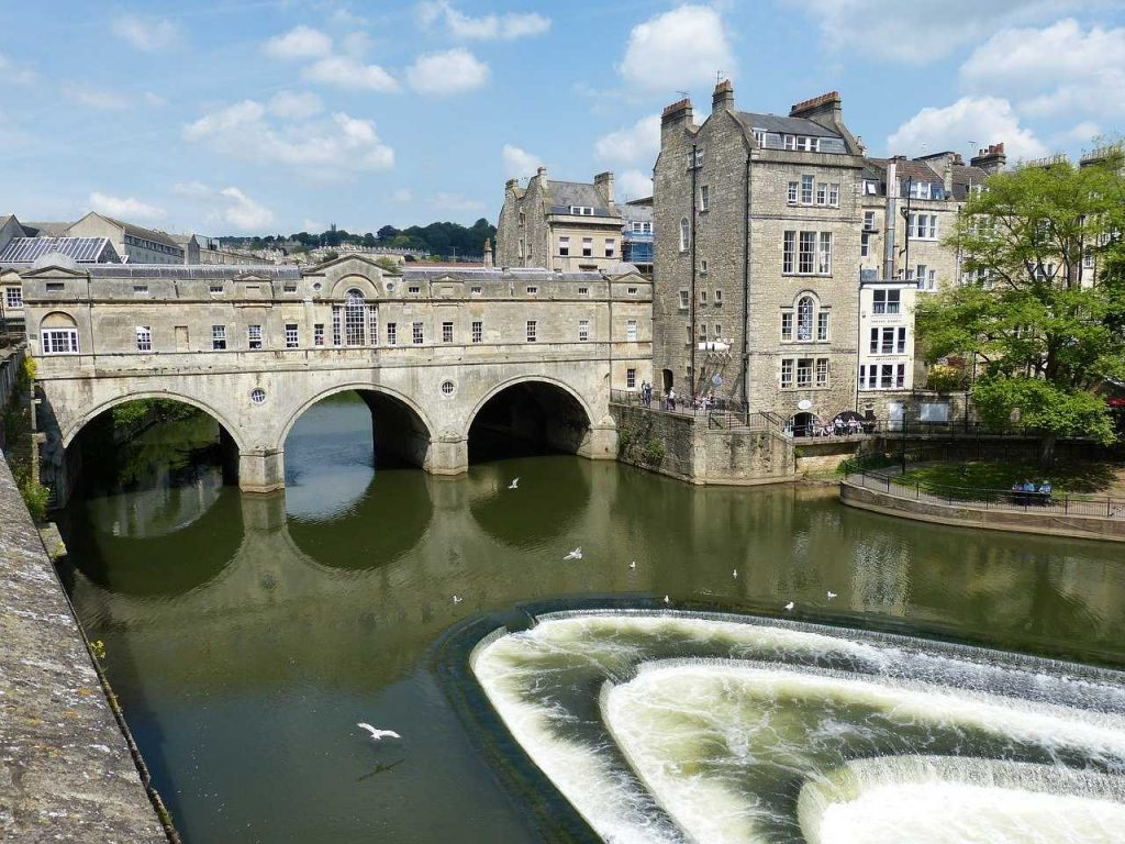 the town of bath and the river-london to bath