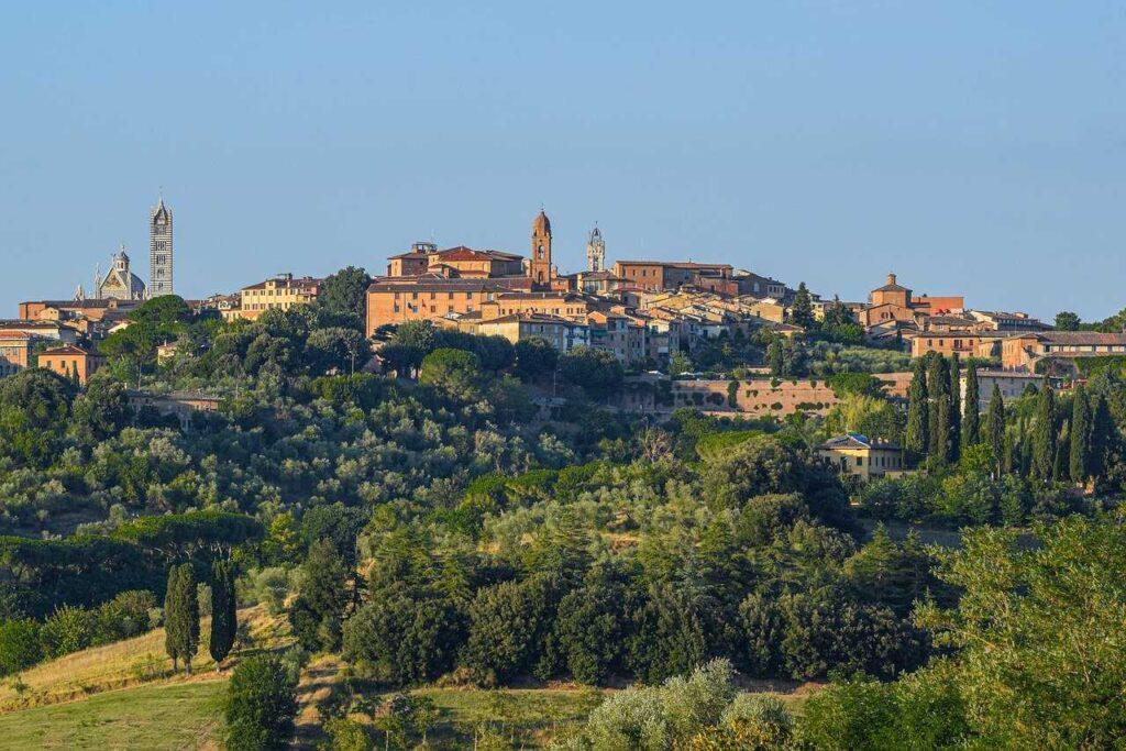 Siena skyline-Towns in Tuscany