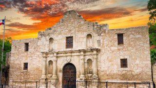 the Alamo-weekend in San Antonio