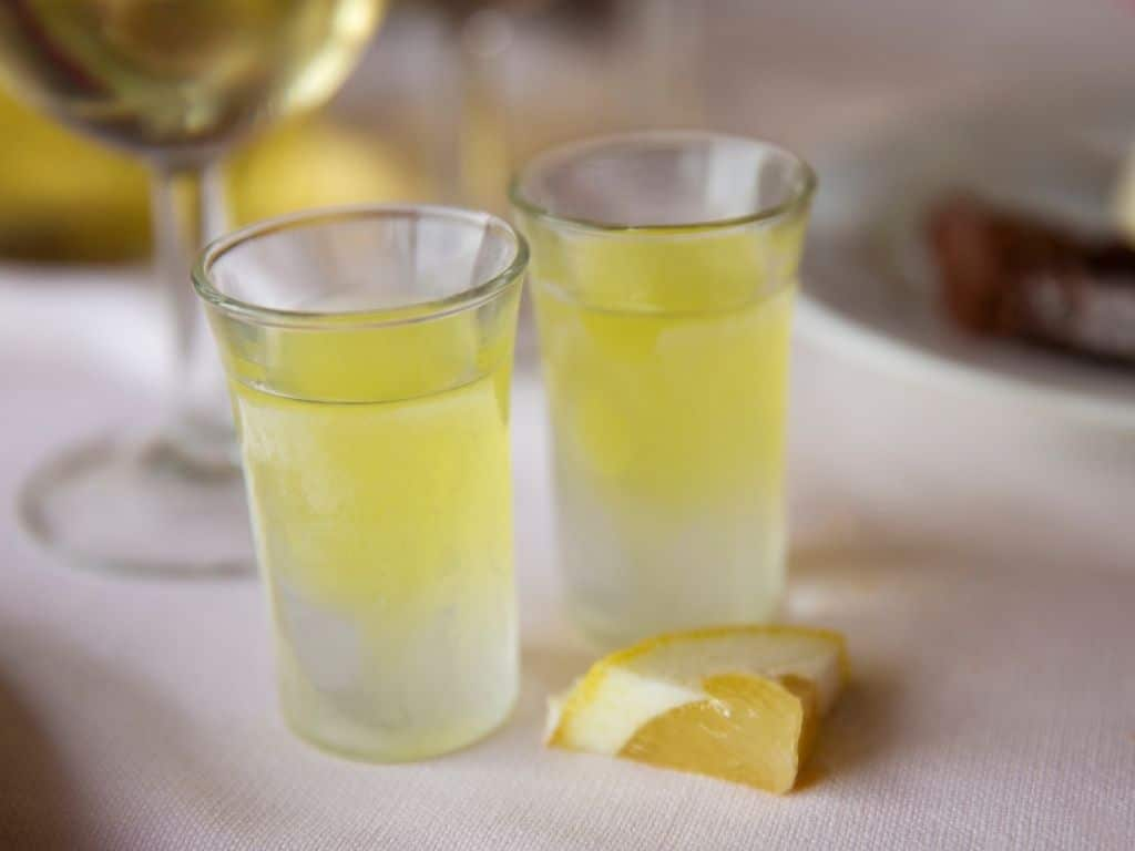 Italian drinks-limoncello