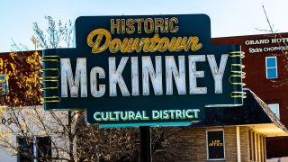 Downtown McKinney sign