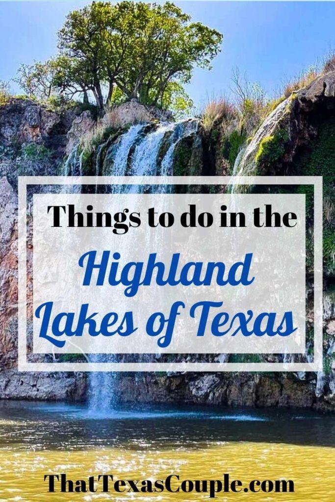 Highland Lakes of Texas waterfall
