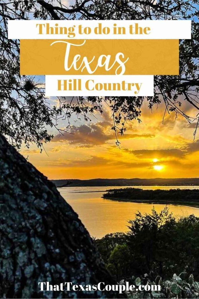 Highland Lakes of Texas sunset