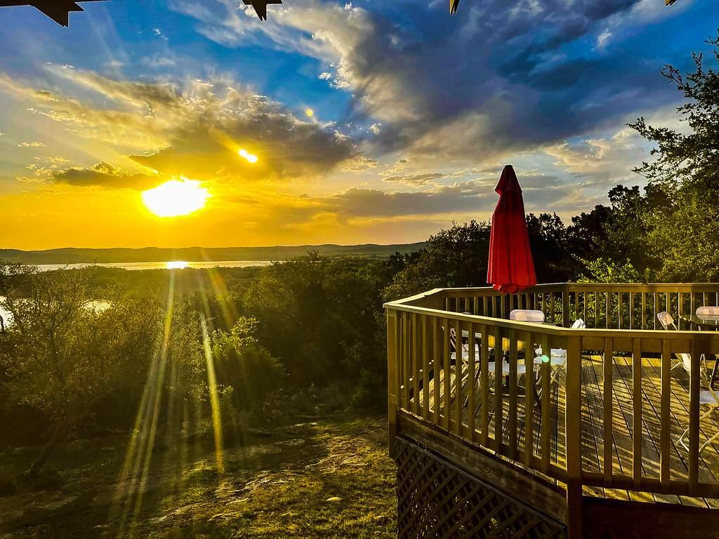 sunset over lake-Highland Lakes of Texas