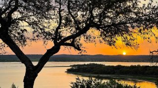 Highland Lakes of Texas-sunset over a lake