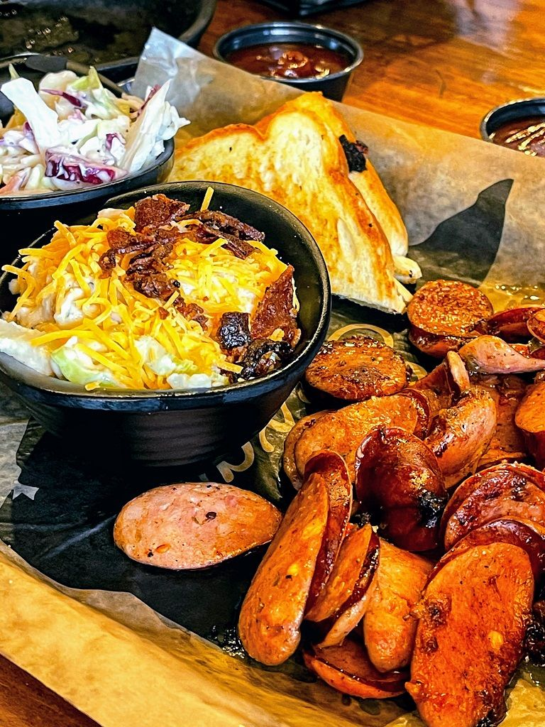bbq from unique places to stay in Texas