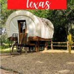 Are you looking for unique places to stay in Texas? Then you need this post. We had a great time covered wagon camping! This was an awesome glamping experience that is so close to the Dallas-Ft. Worth metroplex! Read all about it here! #uniqueaccommodations #coveredwagoncamping #coveredwagons #glamping