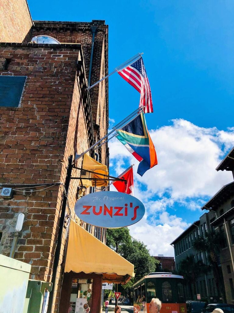 Zunies is one of the Savannah food tour stops