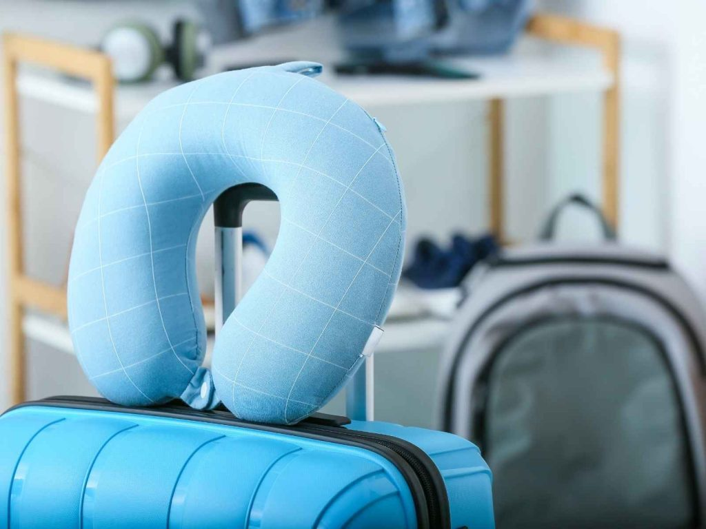 travel pillow and luggage