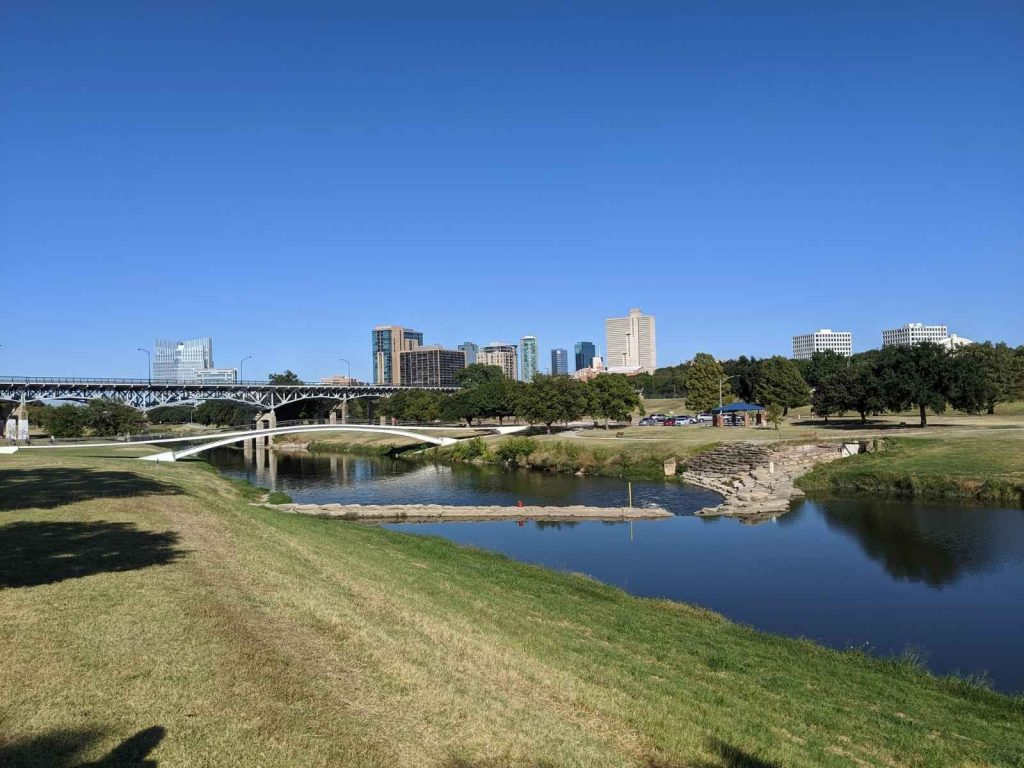 river and trails by Fort Worth