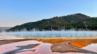 orange colors of the Grand Prismatic Springs