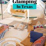 tent interior glamping Texas