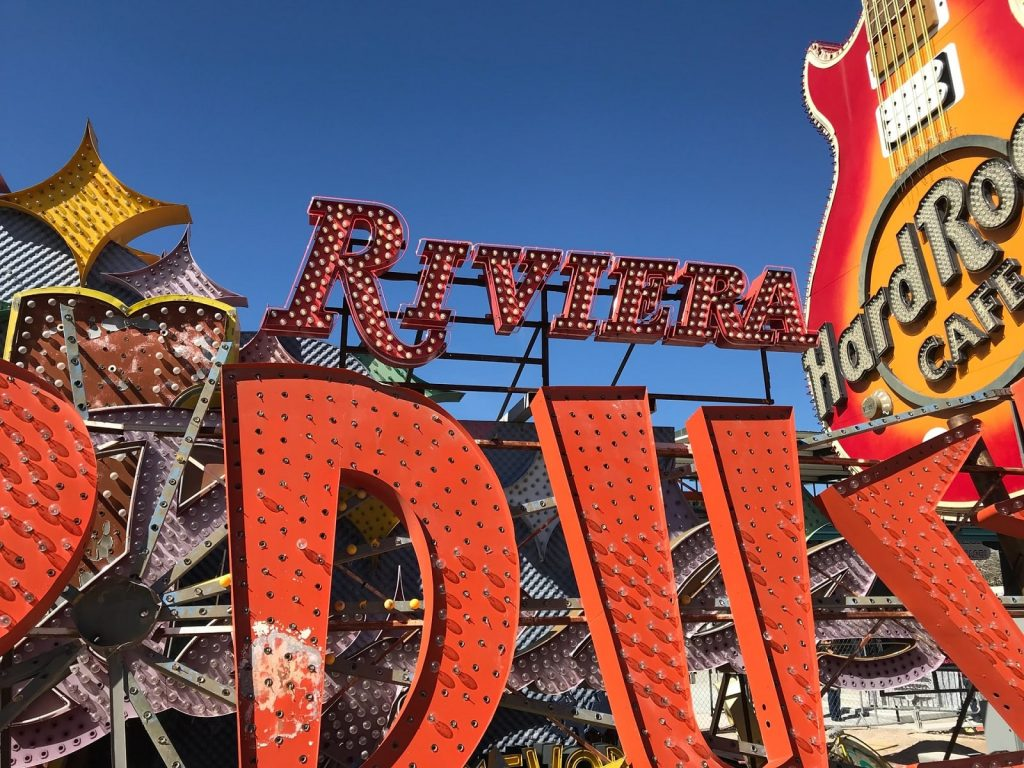 signs at the Neon Museum