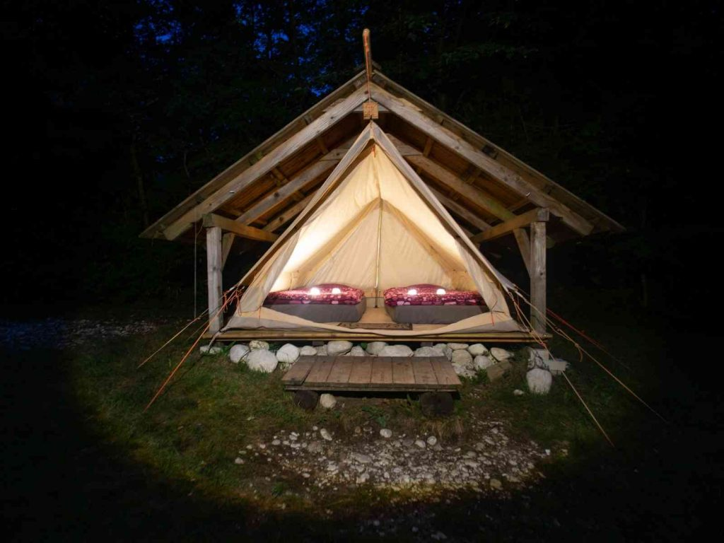 tent glamping in Texas